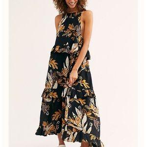 Free People NWT Small Anita Floral Maxi Dress $128